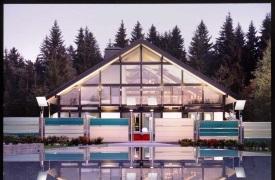 Фахверковый стеклянный дом в Подмосковье
