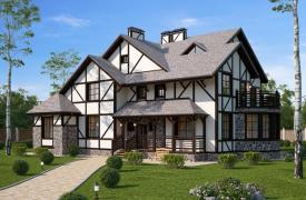 «Пряничный» дом с пожеланием счастья