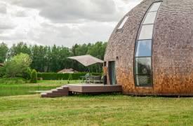 Дом-черепашка в Подмосковье