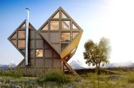Концепт асимметричного дома в Доломитовых Альпах