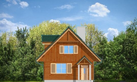 Фасад проекта Д03 деревянный