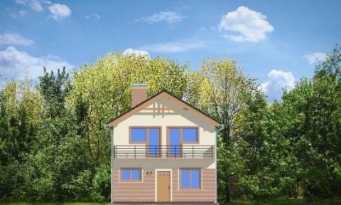 Фасад проекта Дом с Мансардой