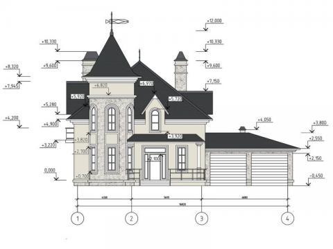 Фасад проекта Манард