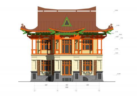 Фасад проекта Вилла Евгения
