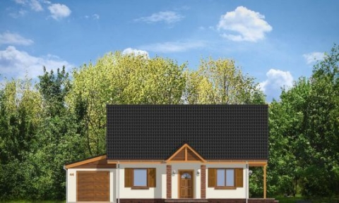 Фасад проекта Радостный с гаражом