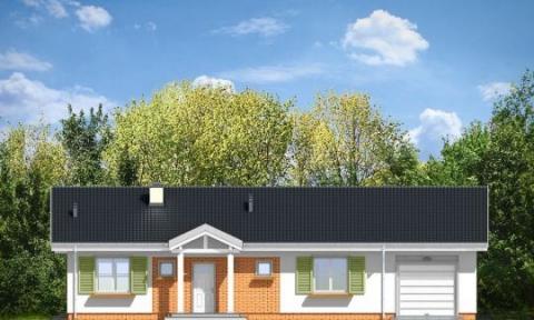 Фасад проекта Солнечный с гаражом-2