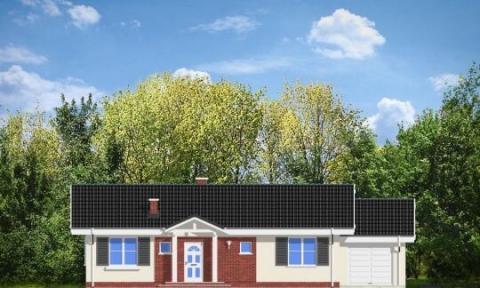 Фасад проекта Солнечный с гаражом