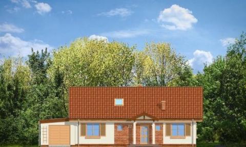 Фасад проекта Солнечный с чердаком