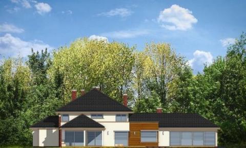 Фасад проекта Вилла с бассейном