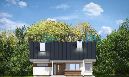 Фасады проекта Дом для троих
