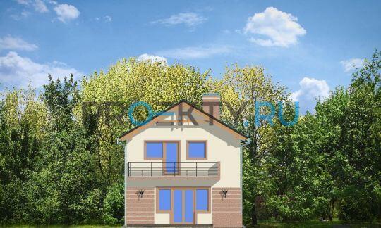 Фасады проекта Дом с Мансардой