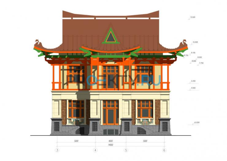 Фасады проекта Вилла Евгения