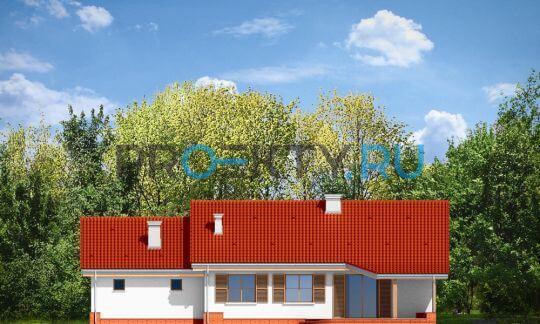 Фасады проекта Незабудка с гаражом-2