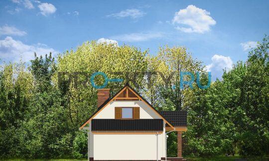 Фасады проекта Радостный с гаражом