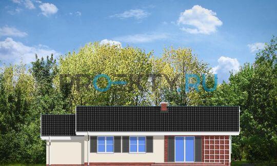 Фасады проекта Солнечный с гаражом