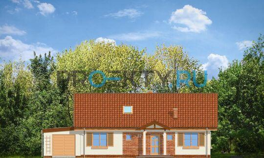 Фасады проекта Солнечный с чердаком