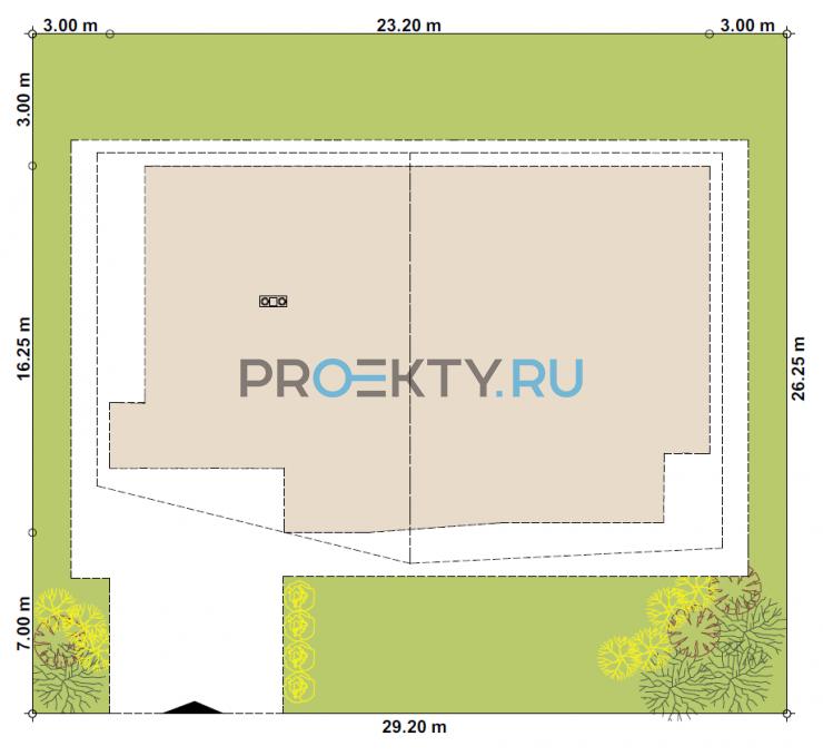Ситуационный план проекта Ольден