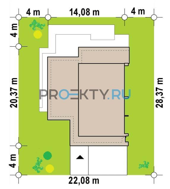 Ситуационный план проекта Zb22