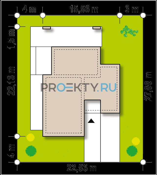 Ситуационный план проекта Zx185