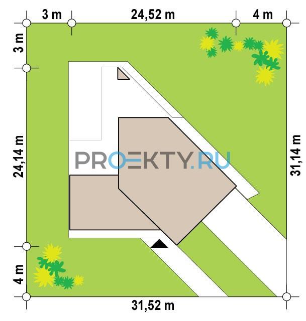 Ситуационный план проекта Zx94