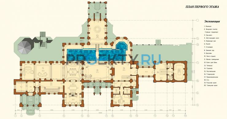 План проекта Усадьба Модерн - 1