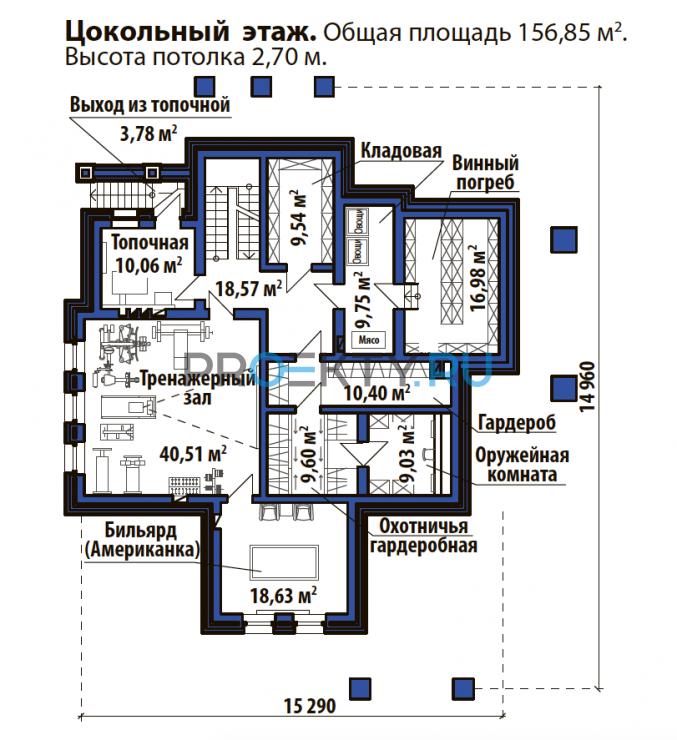 План проекта Лесной дом - 1