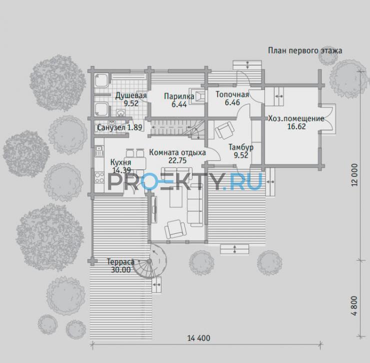 План проекта Баня БН 141 - 1