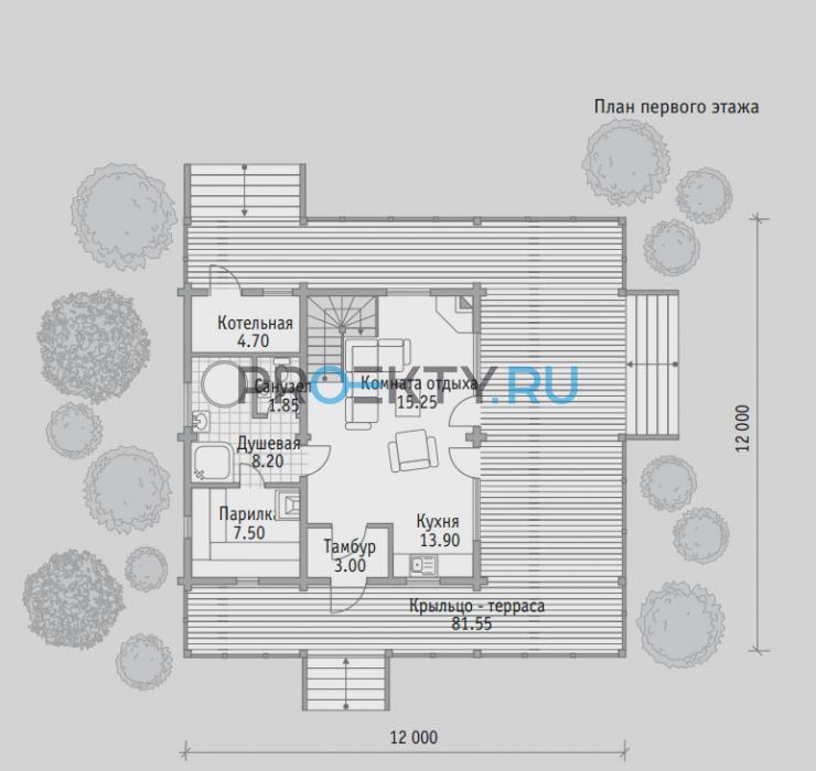 План проекта Баня БН 125 - 1