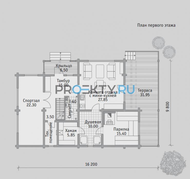 План проекта Баня БН 181 - 1