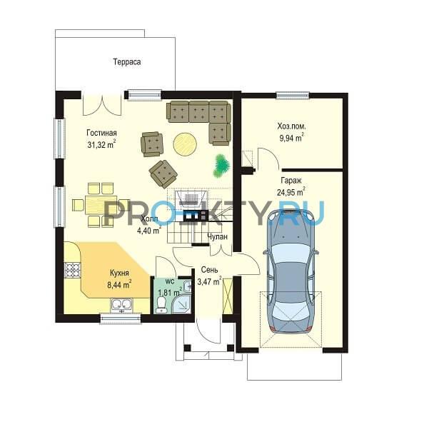 План проекта Д03 с гаражом - 1