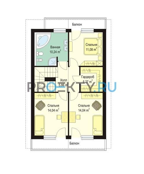 План проекта Дом с Мансардой - 2