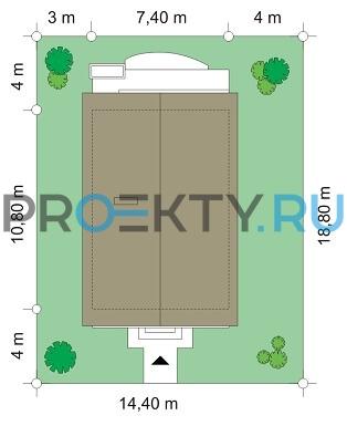 План проекта Дом с Мансардой - 3
