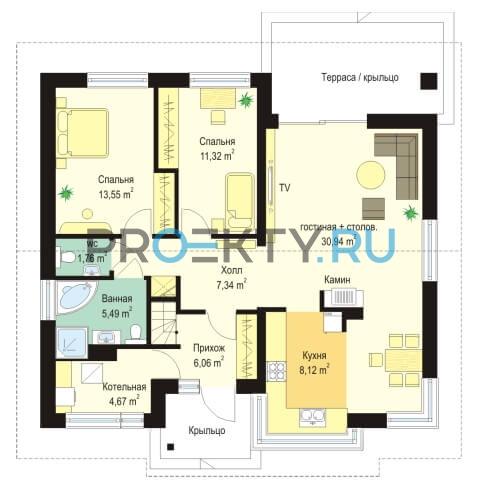 План проекта Дом для троих - 1