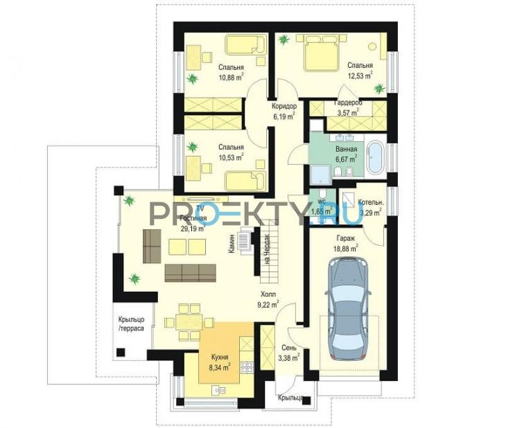 План проекта Дом по размеру - 1