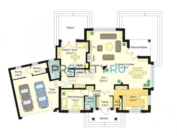 План проекта Дом с Колоннами - 1
