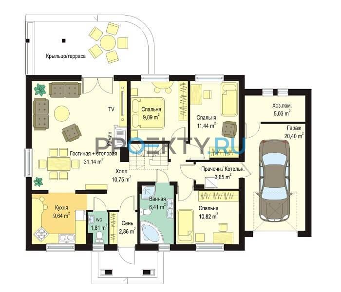 План проекта Незабудка с гаражом - 1