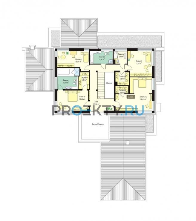 План проекта Вилла с бассейном - 2