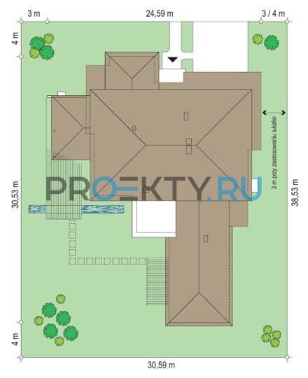 План проекта Вилла с бассейном - 3