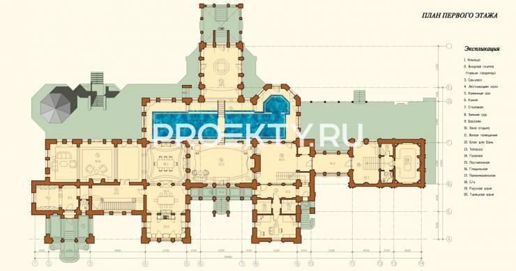 План проекта Усадьба Модерн