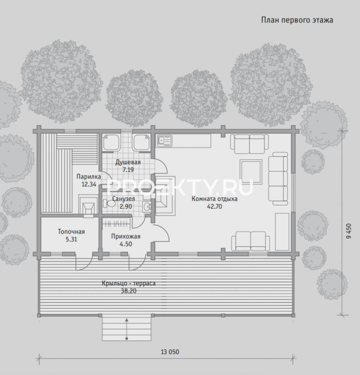 План проекта Баня БН 86