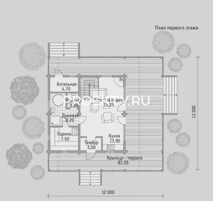 План проекта Баня БН 125