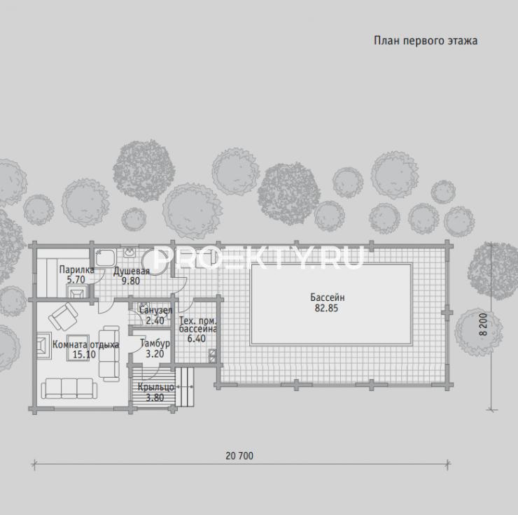План проекта Баня БН 127