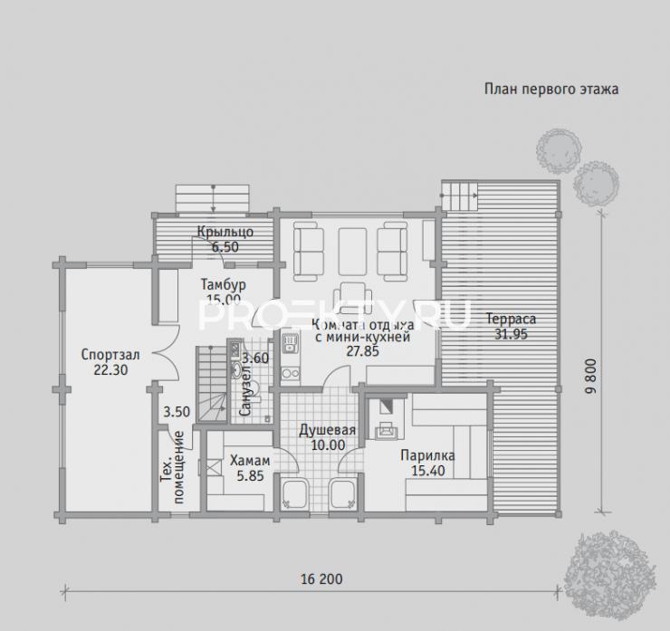 План проекта Баня БН 181