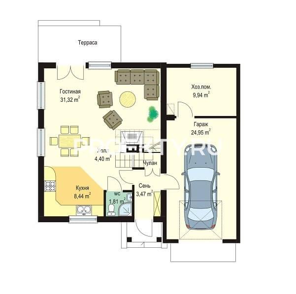План проекта Д03 с гаражом