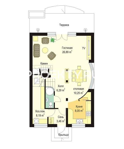 План проекта Дом с Мансардой