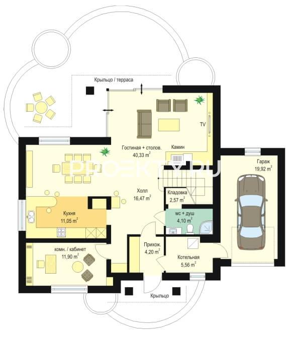 План проекта Дом в Березках