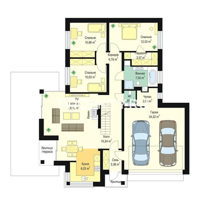План проекта Дом по размеру-2