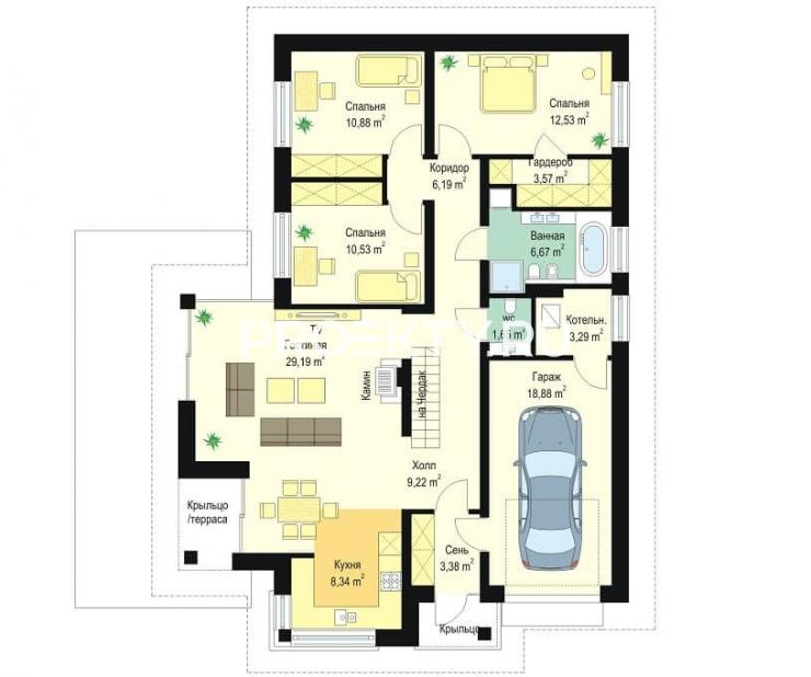 План проекта Дом по размеру