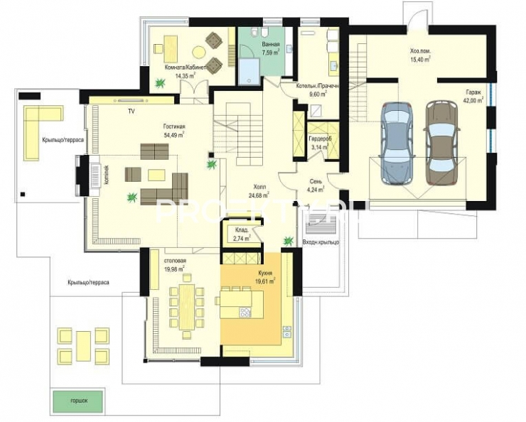 План проекта Дом с видом