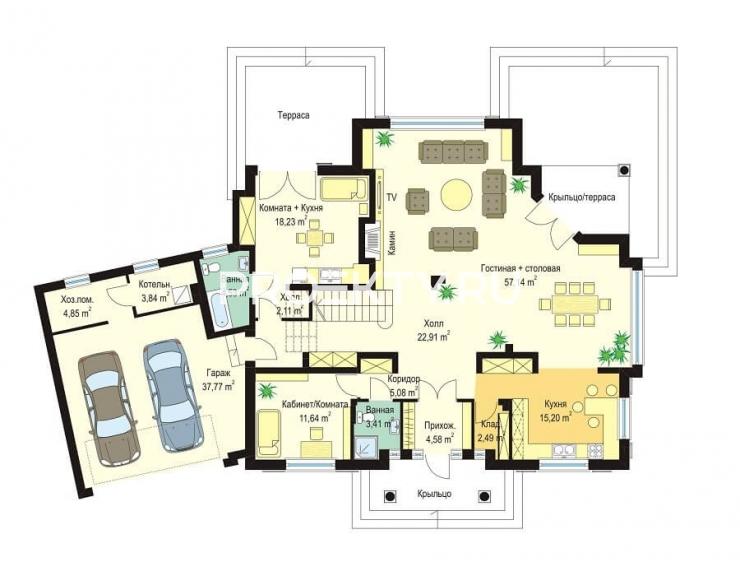 План проекта Дом с Колоннами